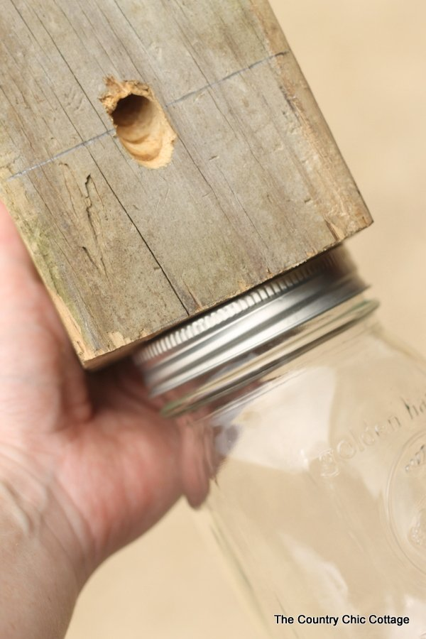 Make Your Own Carpenter Bee Trap From A Scrap 4x4 And Mason Jar