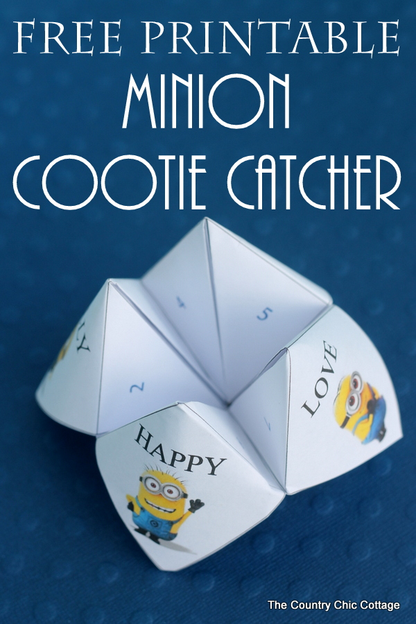 Minion Cootie Catcher and Universal Orlando - The Country ...