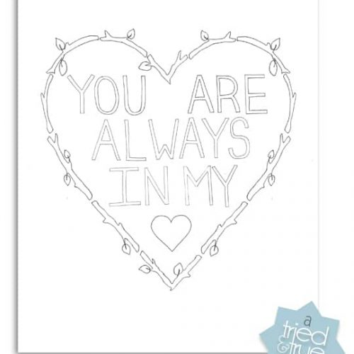 always in my heart coloring page