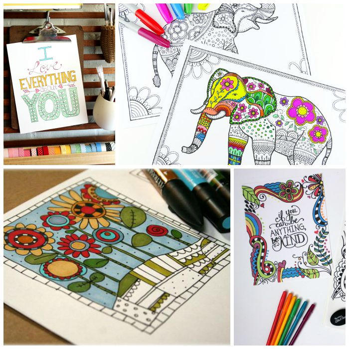 Get 25 FREE adult coloring pages and join in the relaxing activity of coloring! Adults and kids alike will love these easy adult coloring pages!