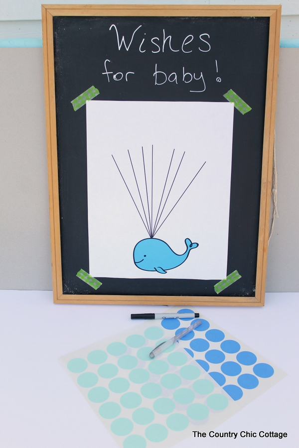 Baby Shower Guest Book Idea With Free Printable Whale Art! Turn This Fun Guest  Book
