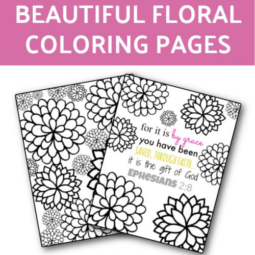 floral coloring pages