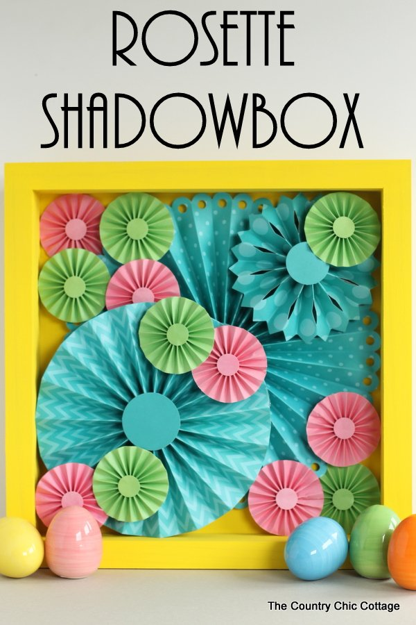 paper rosette shadowbox the country chic cottage