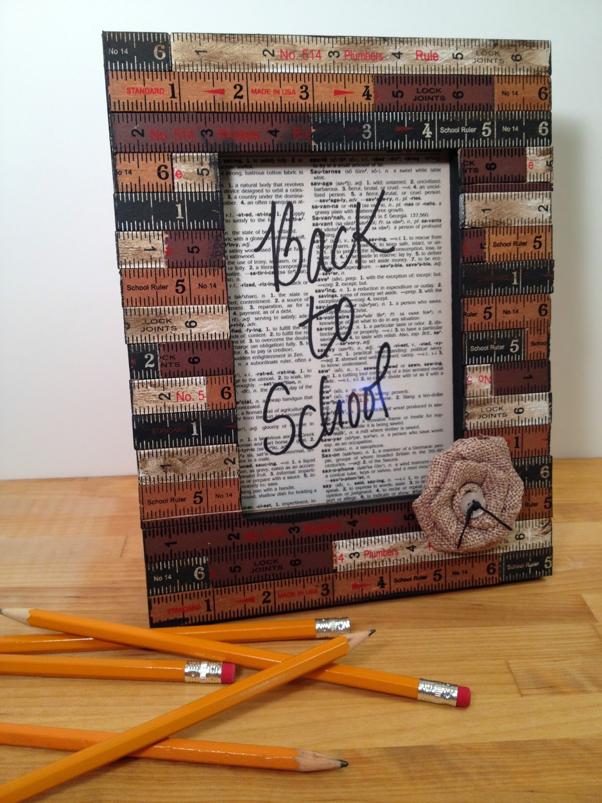 First Day of School Picture Frame - The Country Chic Cottage