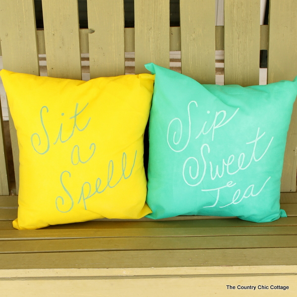 make your own outdoor pillows the country chic cottage