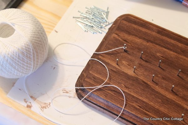 How to make geometric string art in any shape! Great step by step instructions!
