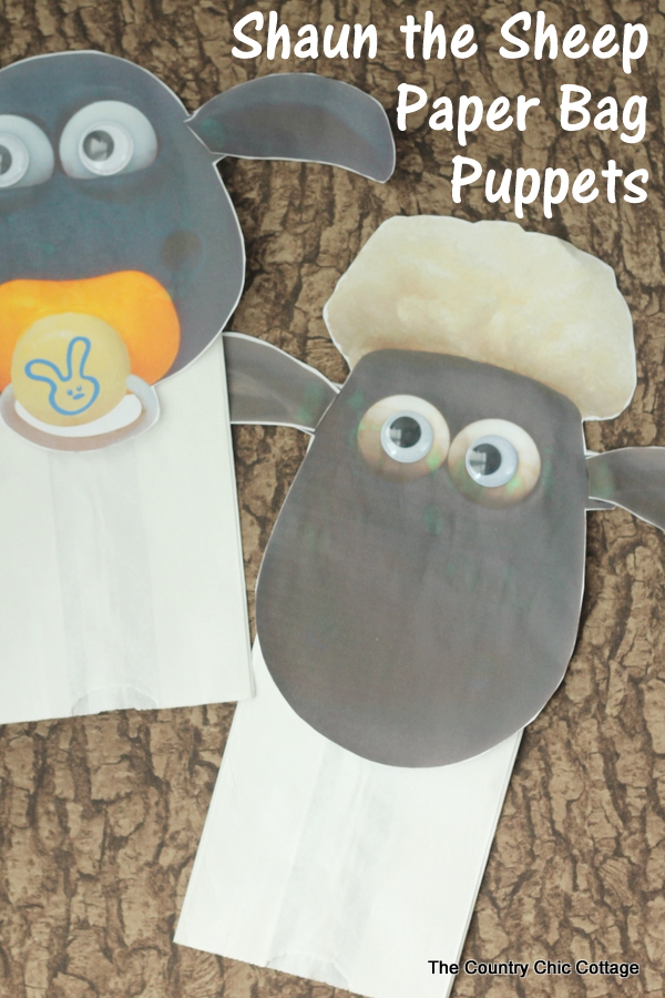Make these Shaun the Sheep paper bag puppets in just a few minutes and have tons of fun! Celebrate the release of the new movie into theaters!