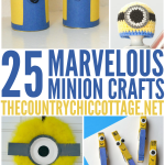 Get 25 Minion crafts here! For adults and kids alike!