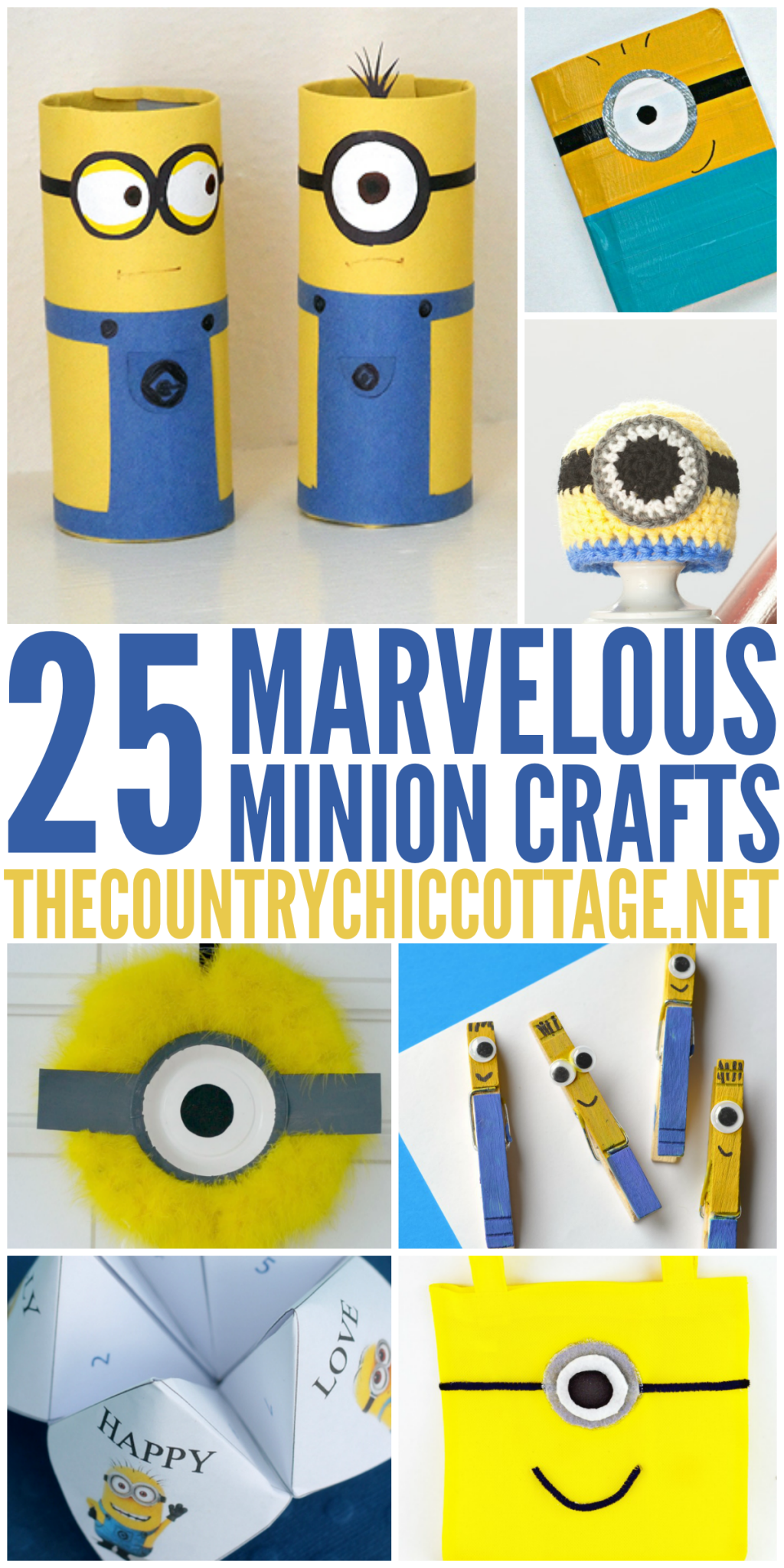 Make one or more of these fun minion crafts for a kid or adult in your life. Every minion lover will love these great craft ideas!