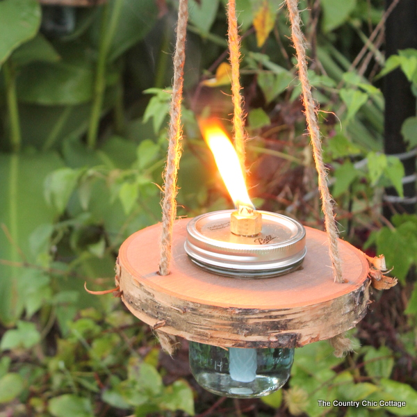 Wood And Mason Jar Tiki Torches The Country Chic Cottage