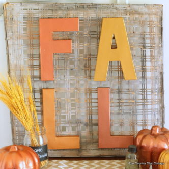 Make this metallic fall sign in just minutes! A fun craft project for your home!