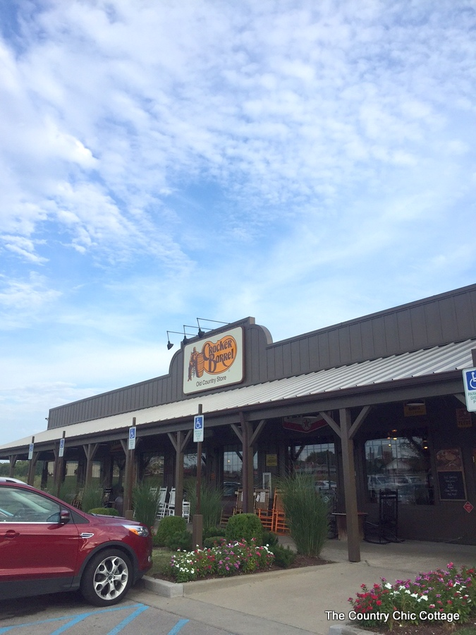 Details of a trip to Cracker Barrel Old Country Store!