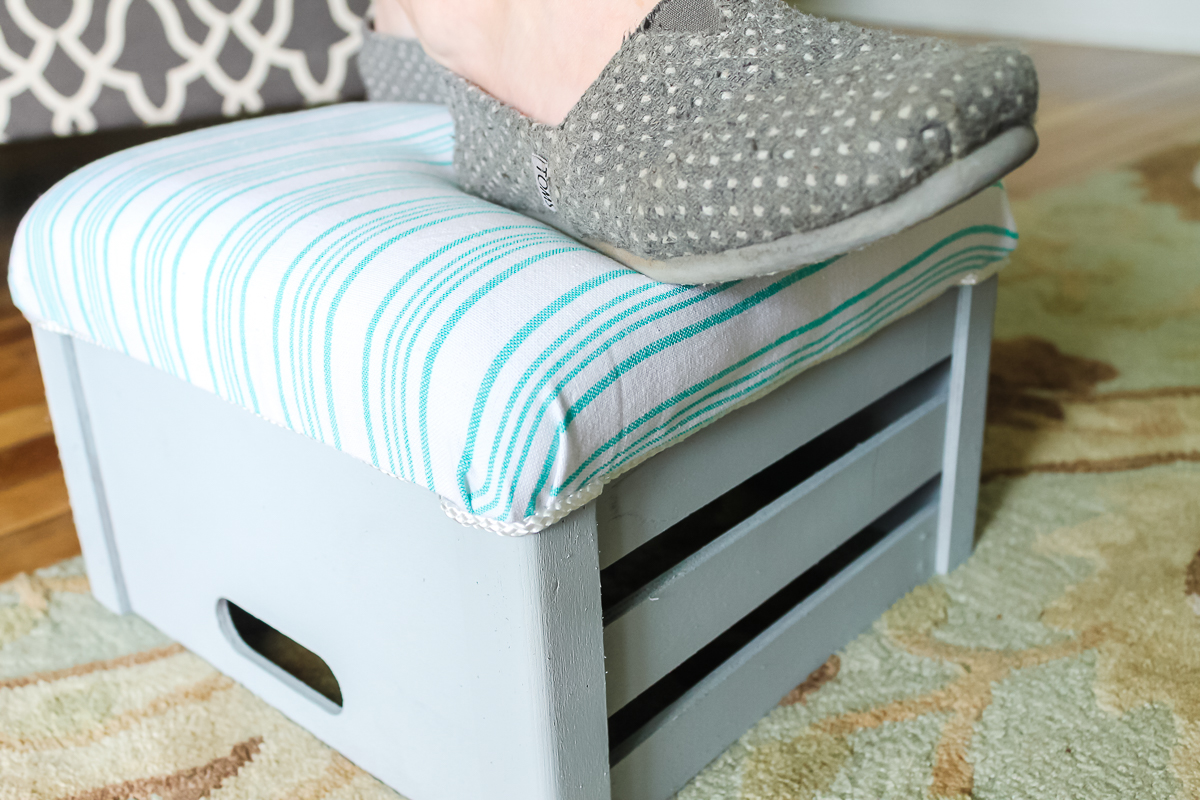 using a footstool