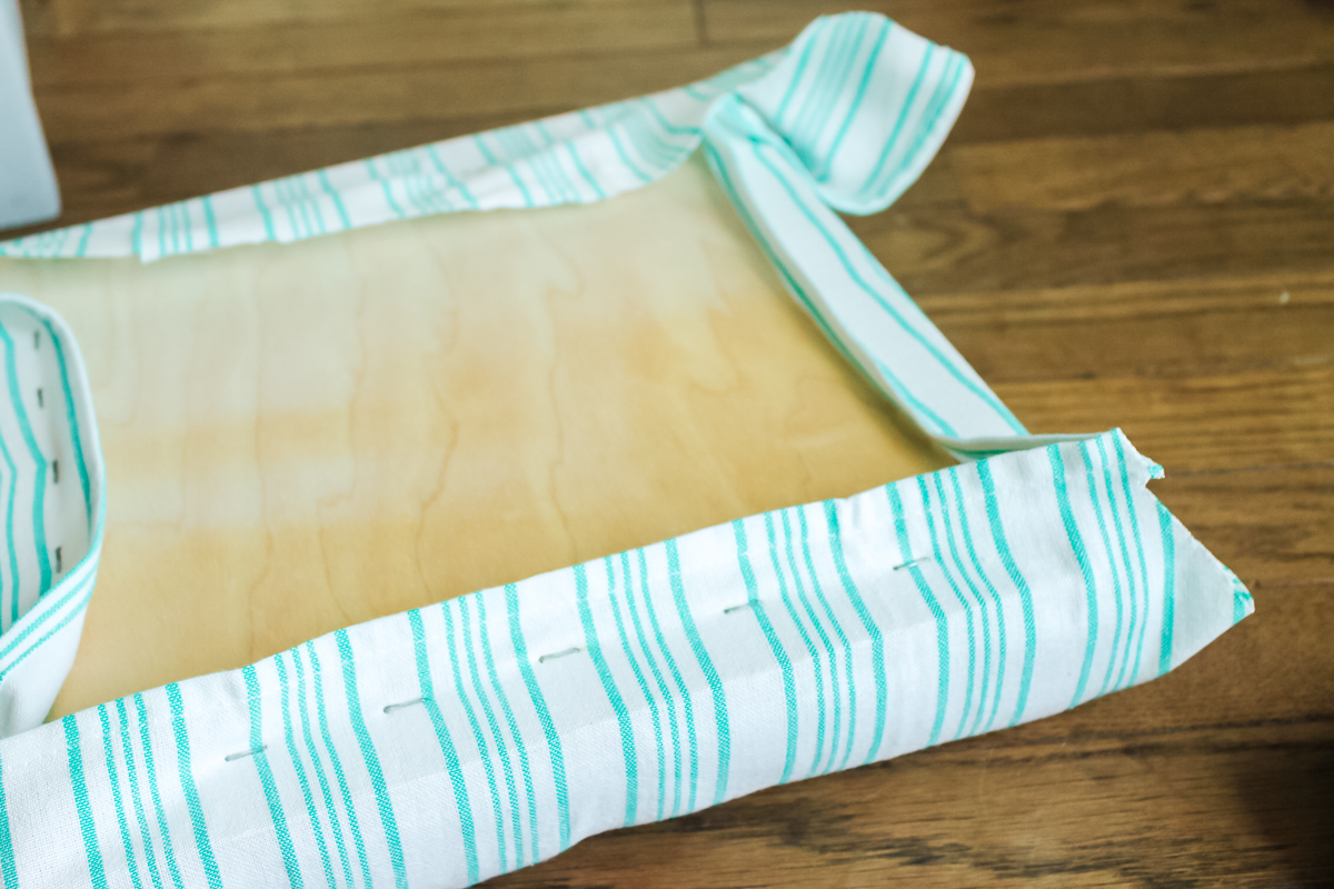 how to upholster a footstool