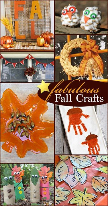 A collection of fabulous fall crafts to try!