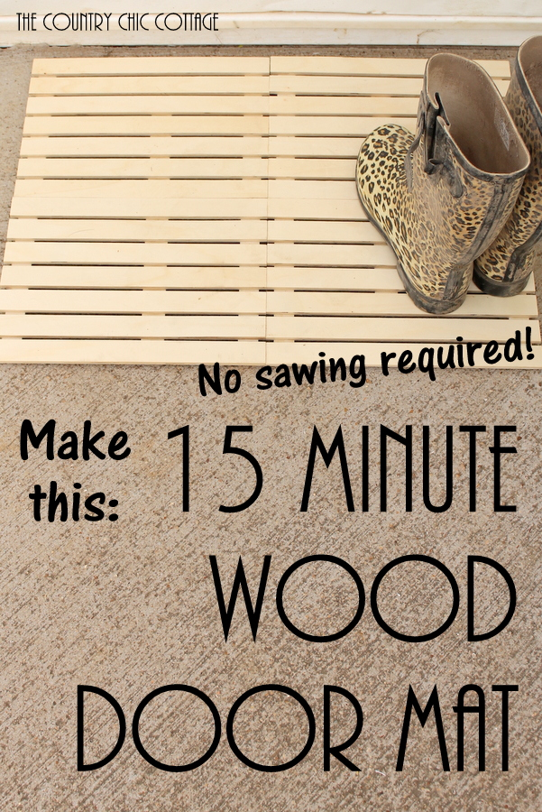 Make your own wood door mat in just 15 minutes!
