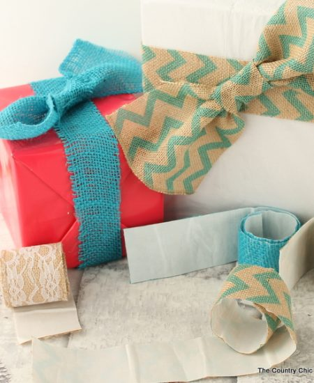 Make burlap tape with the Xyron for gifts and more!