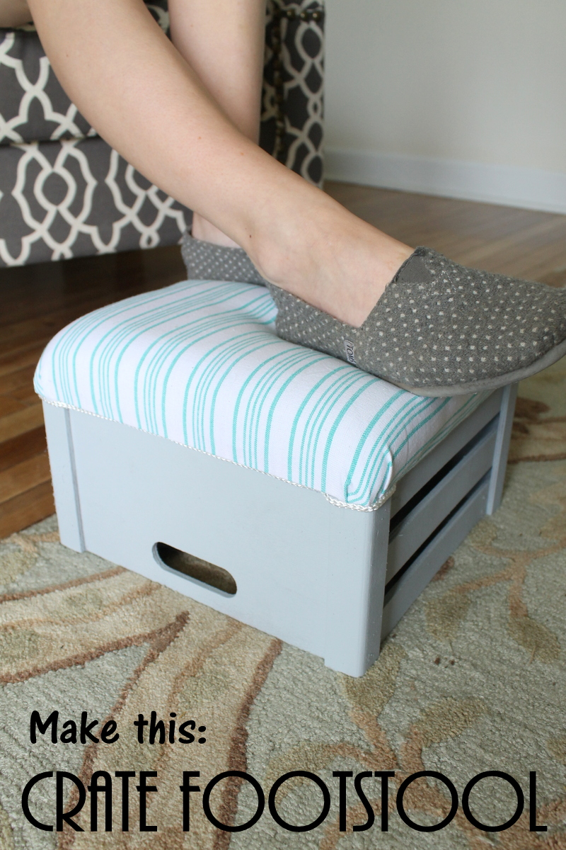 make your own crate footstool-012