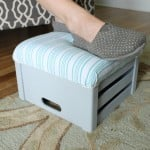 make your own crate footstool-013