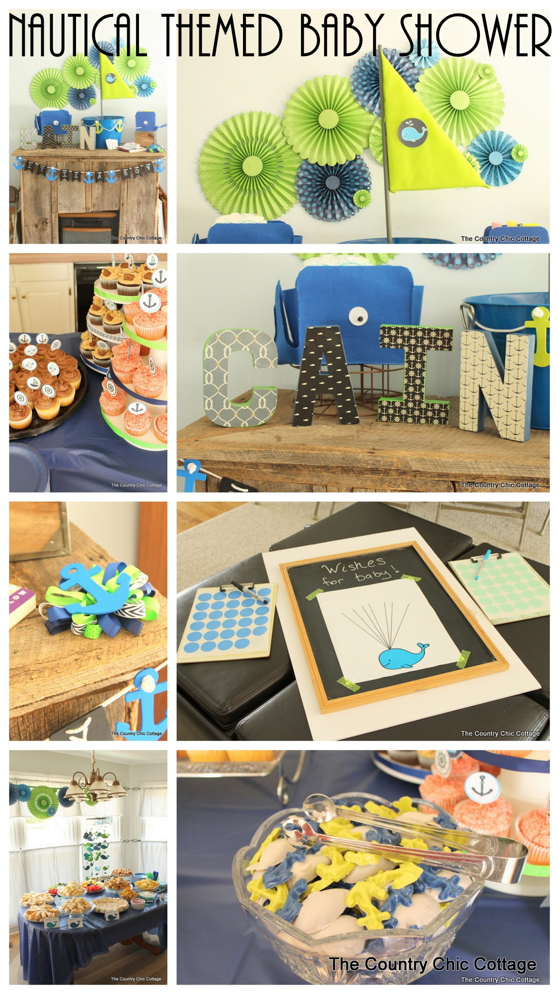 throw a nautical themed baby shower with these fun ideas