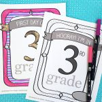Personalized School Sign Printable and Coloring Pages