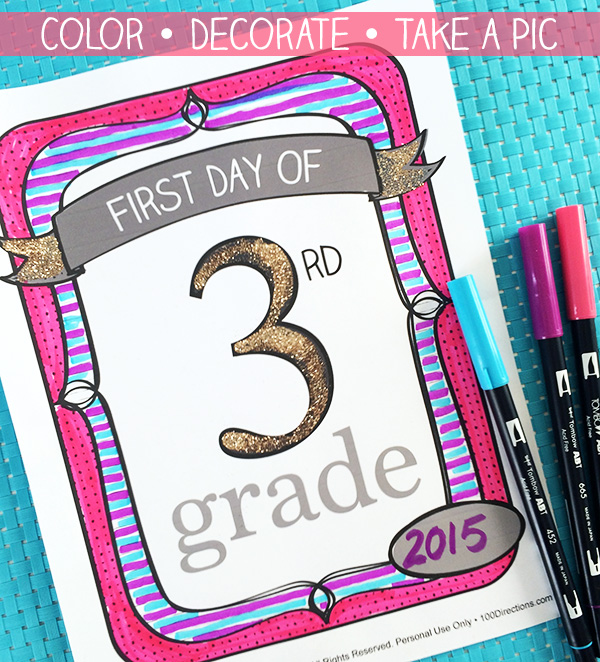 Printable school signs for every grade