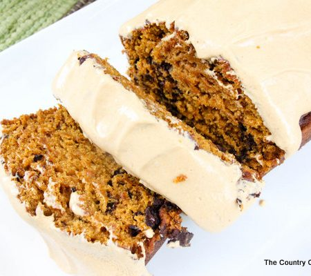 Pumpkin break with caramel frosting recipe -- a delectable fall treat!