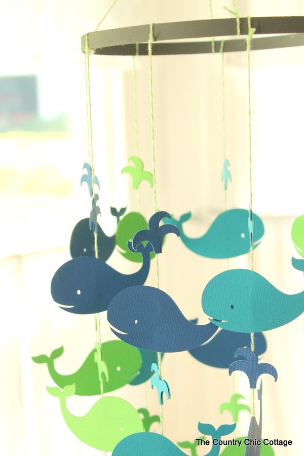 Make This Whale Baby Mobile The Country Chic Cottage