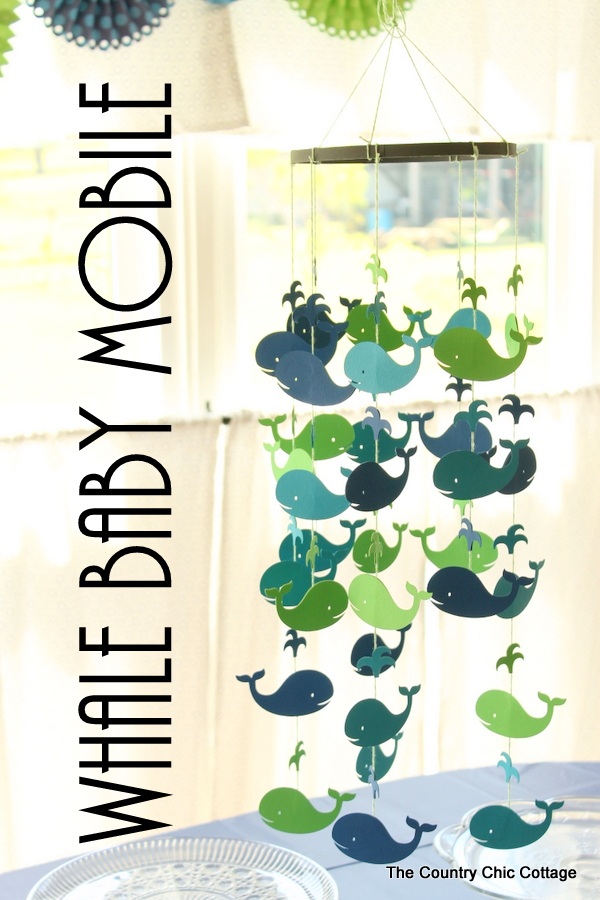 Make this: Whale Baby Mobile - The Country Chic Cottage