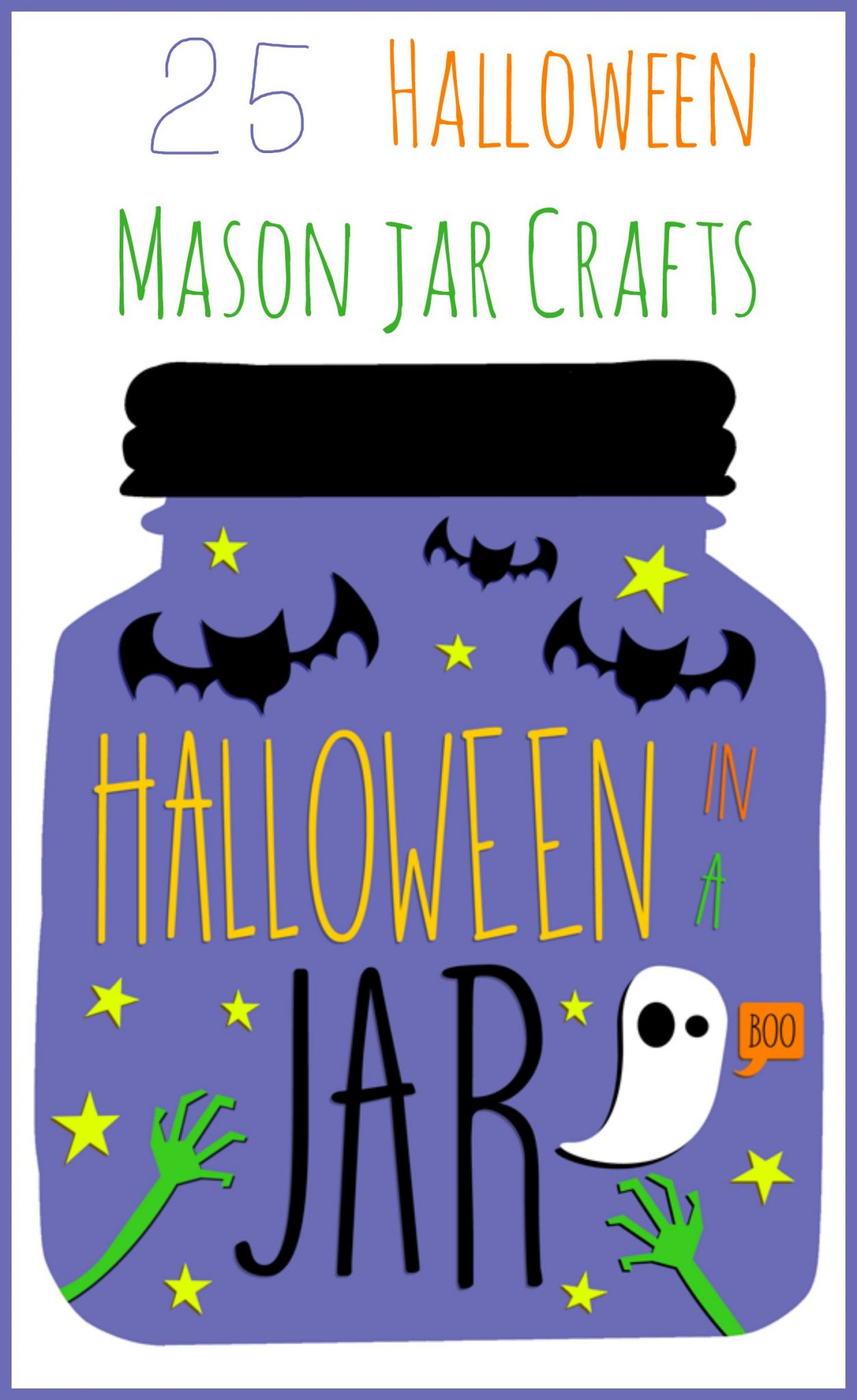 25 Halloween mason jar crafts -- ideas for your Halloween decorations, treats, and so much more!
