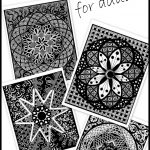 Free coloring pages for adults -- a great way to relieve stress!