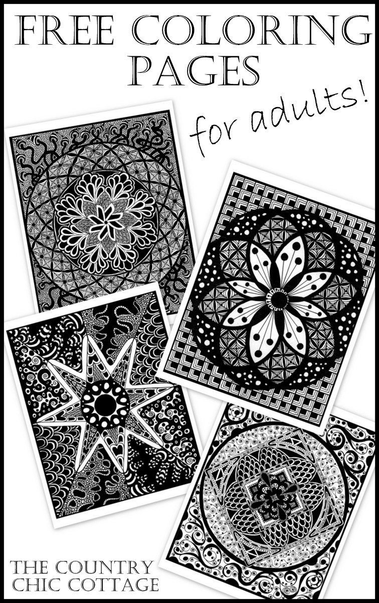 free coloring pages for adults a great way to relieve stress - Free Adult Coloring Books