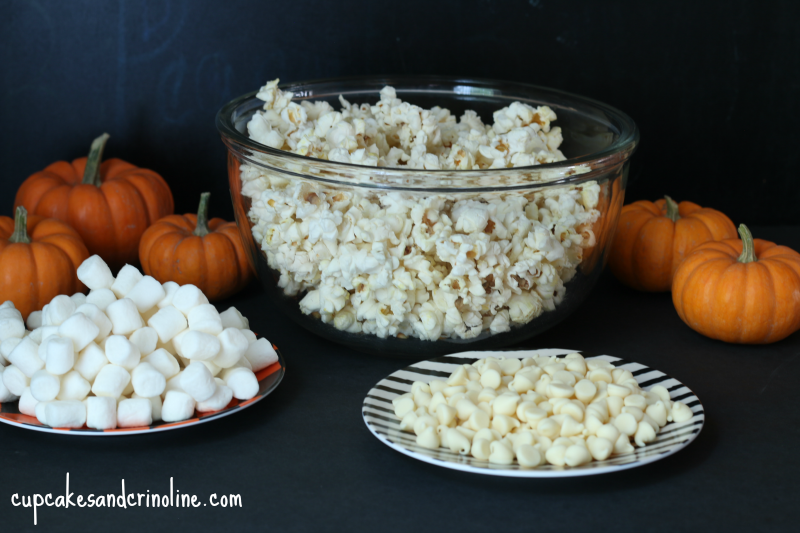 ingredients for halloween popcorn mix