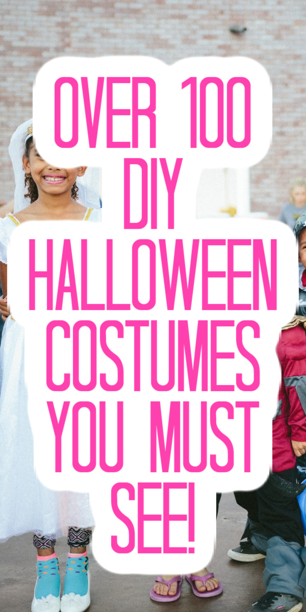 You will find ideas for every member of your family on our list of over 100 DIY Halloween costumes! #halloween #costumes #diy