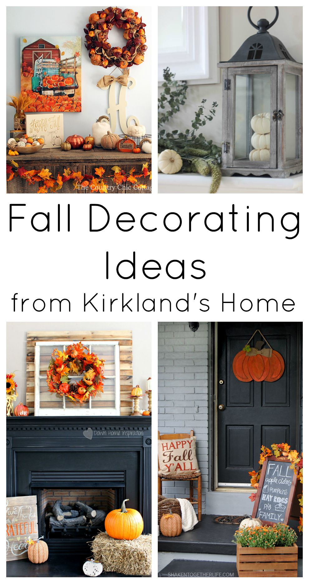 Great fall decorating ideas using items from Kirkland's Home.