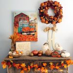 A gorgeous fall mantel with items from Kirklands!
