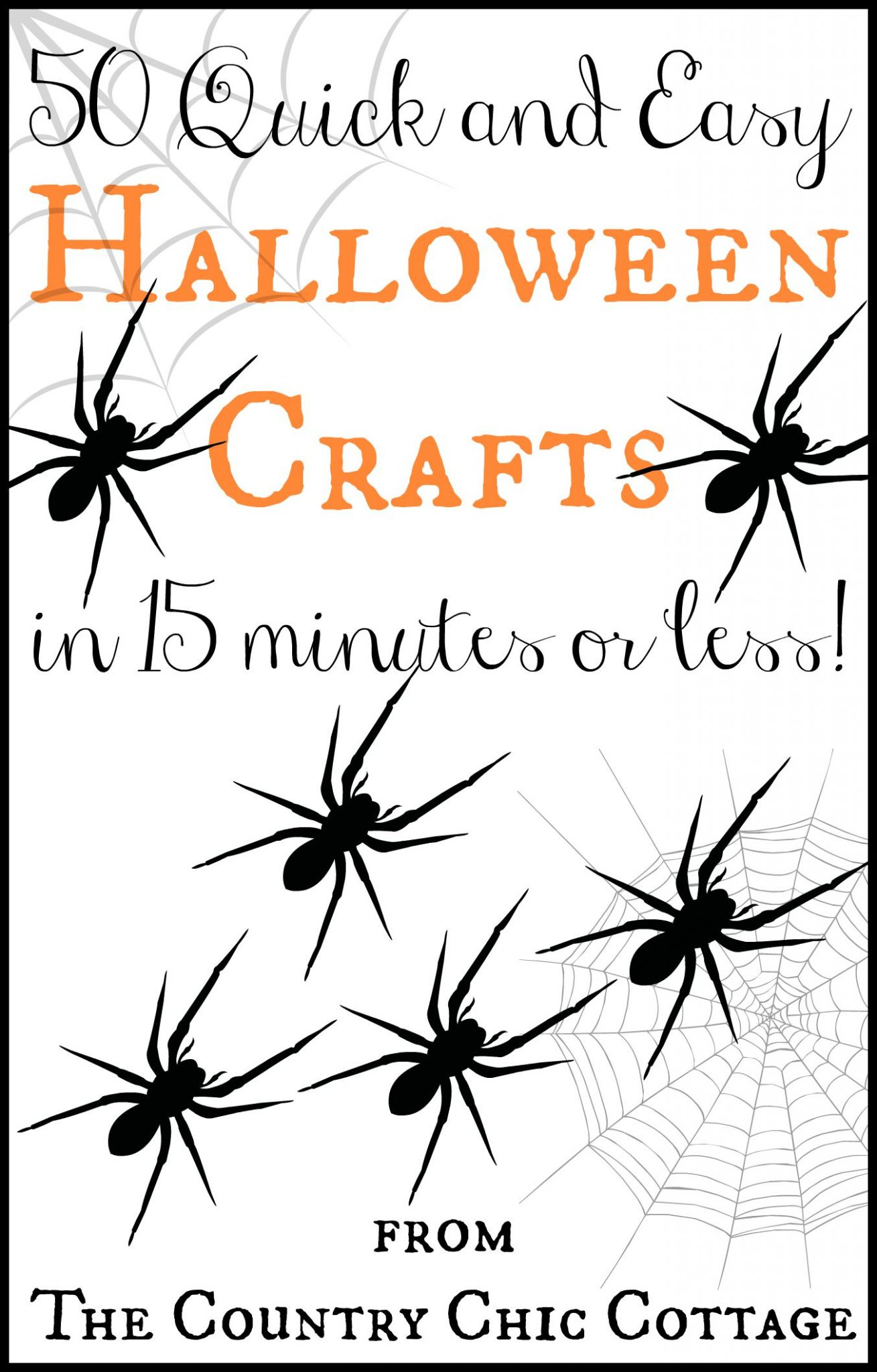 50 quick and easy Halloween crafts that all take 15 minutes or less to make!