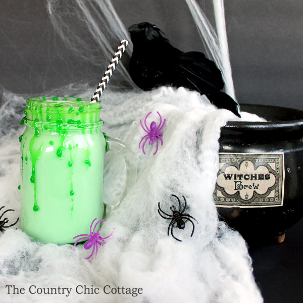 Make this recipe for Halloween white hot chocolate! A fun twist on the traditional!