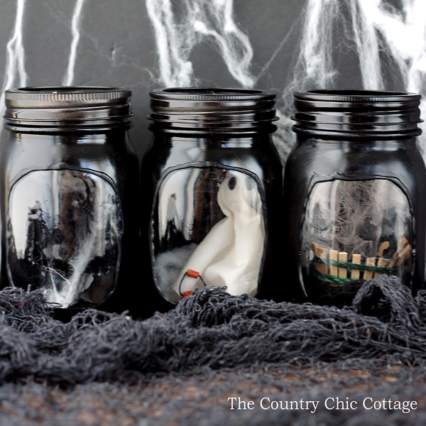 Haunted House Mason Jar Crafts The Country Chic Cottage