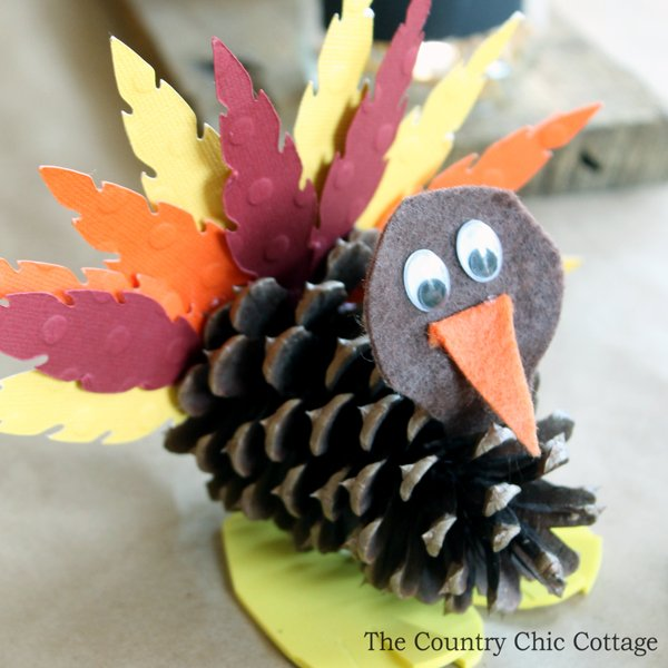 kids 39 craft pine cone turkeys the country chic cottage