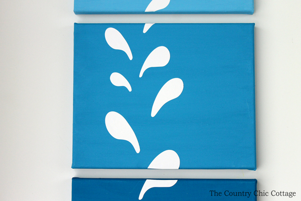 Make your own whale canvas art in just minutes with this craft tutorial!