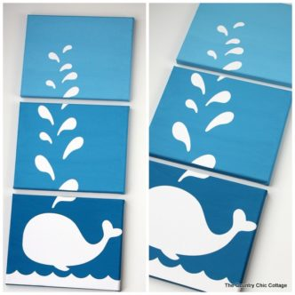 Make this:  Whale Canvas Art