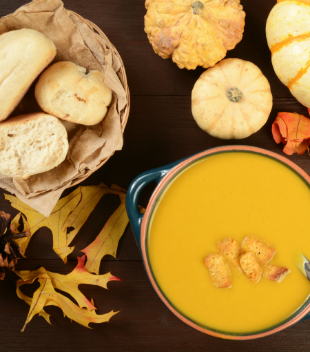 Enjoy this butternut bisque recipe this fall! The perfect fall soup for those that love butternut squash!