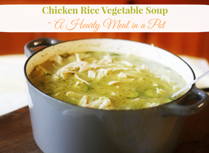 Chicken Rice Vegetable Soup Recipe