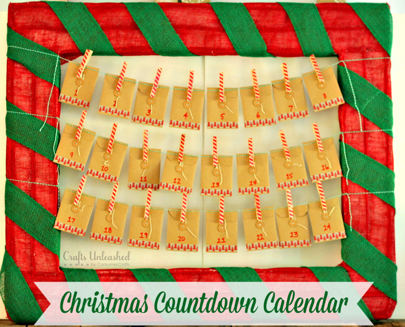 Great Christmas countdown calendar that you can make easily!