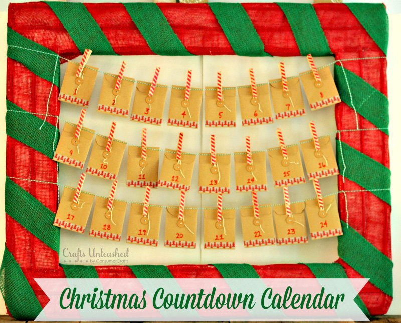 Great countdown calendar that you can make easily!