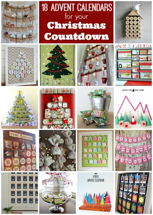 Advent Calendar Adults Diy : Chalkboard christmas countdown calendar the country chic