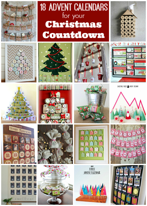 18 differnt ideas for advent calendars for Christmas!