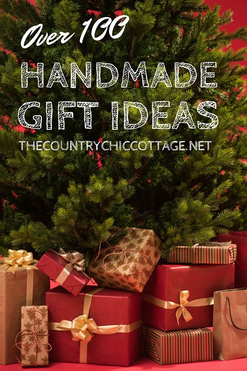 Over 100 handmade gift ideas for your holiday season!  Perfect for the upcoming Christmas holidays!