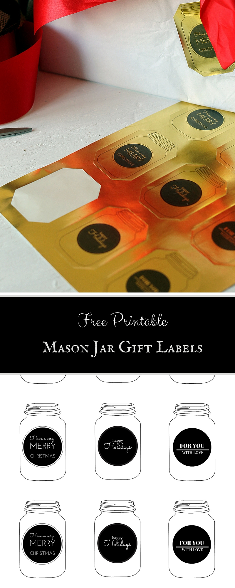Free Printable Mason Jar Gift Labels The Country Chic Cottage